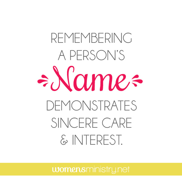 Be Purposeful to Remember Names