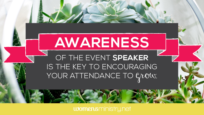 Increase Awareness of Your Event Speaker