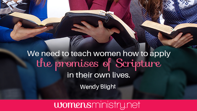 Wendy Blight applying Scripture quote image